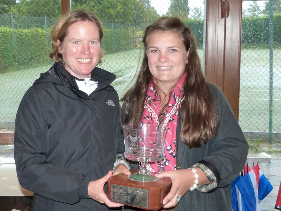 Ladies' Doubles champions Carolyn Haynes and Lydia Freeman